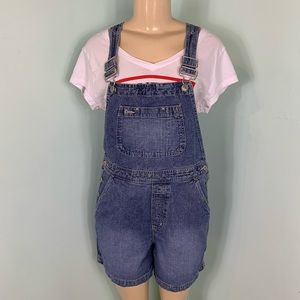 Vintage 90s The Gap Denim Overall Shorts